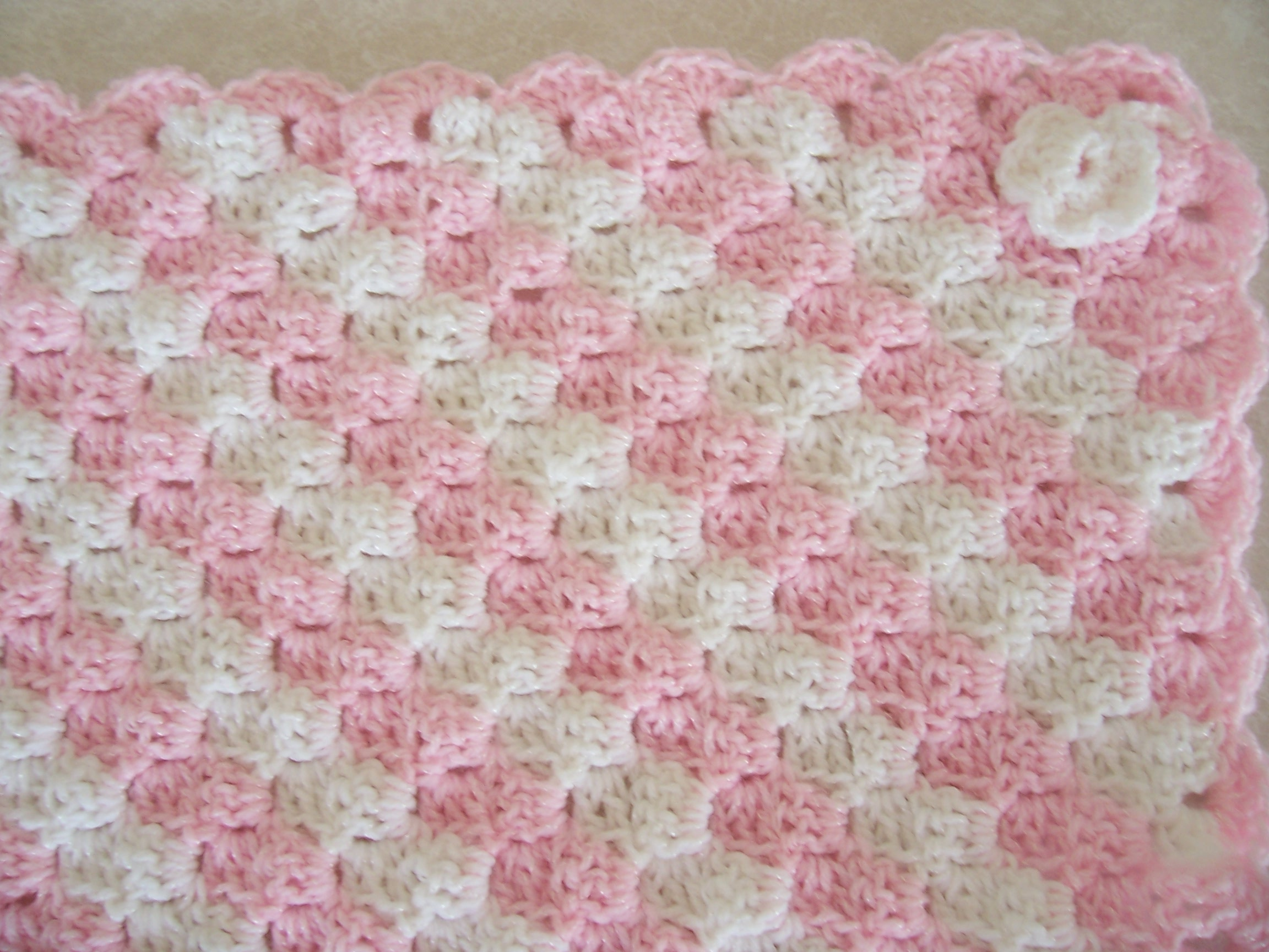 Crochet Blanket Patterns Free Baby : AFGHAN CROCHET PATTERN PINK WHITE FREE PATTERNS
