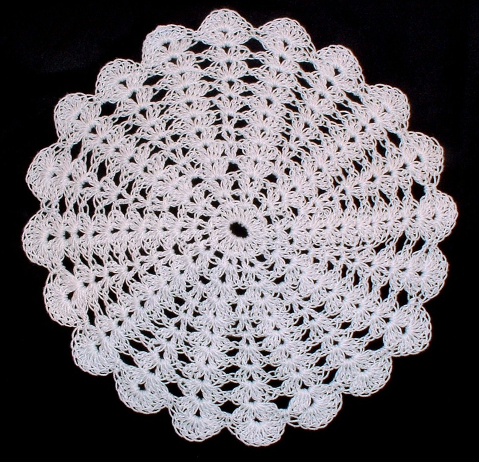 Crochet Doilies : 19 inch shabby chic crocheted doily $ 80 00 not available in black