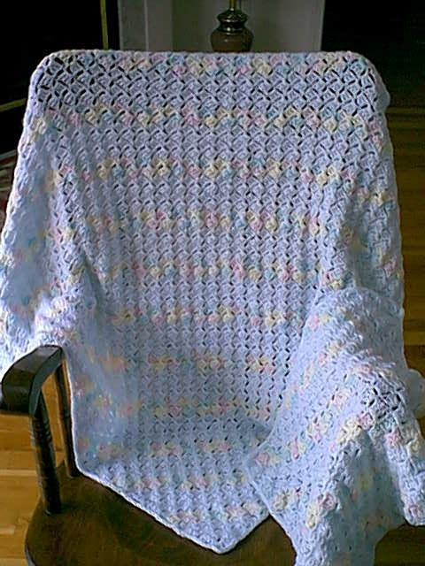 Ombre Blue Baby Blanket